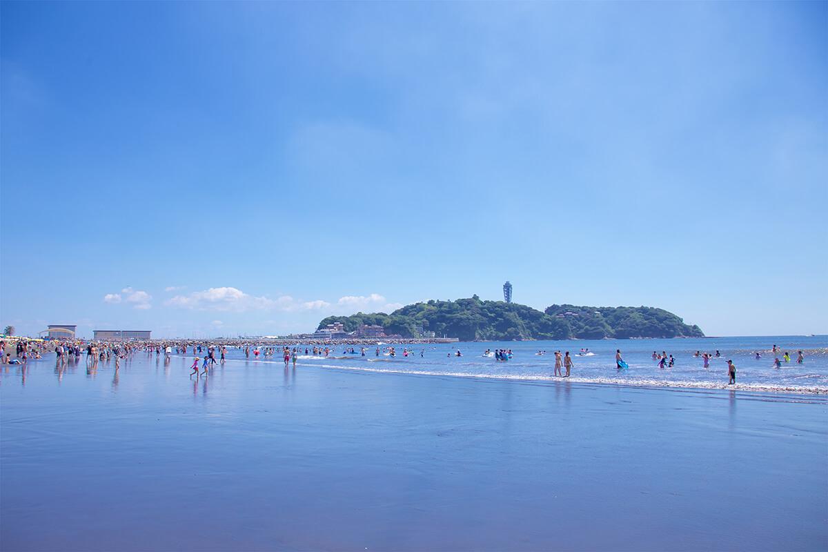 片瀬西浜海水浴場 江ノ島海岸