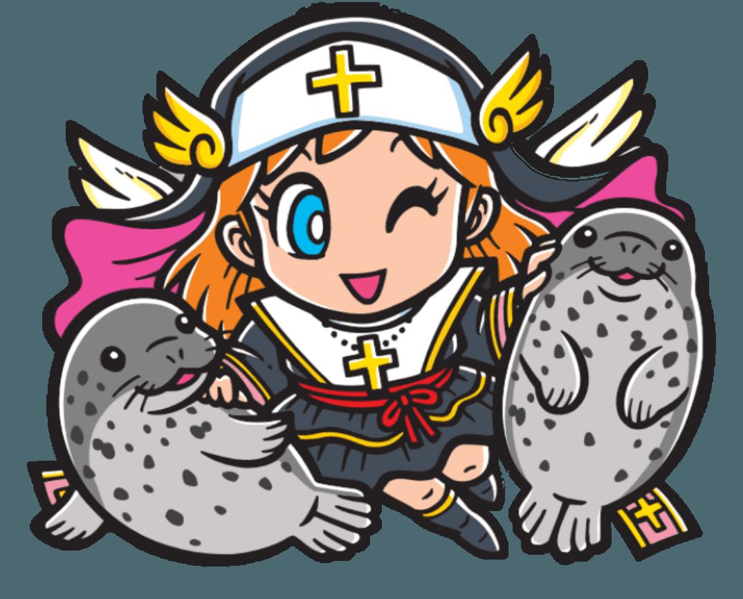 十字架聖女&ゴマフアザラシ