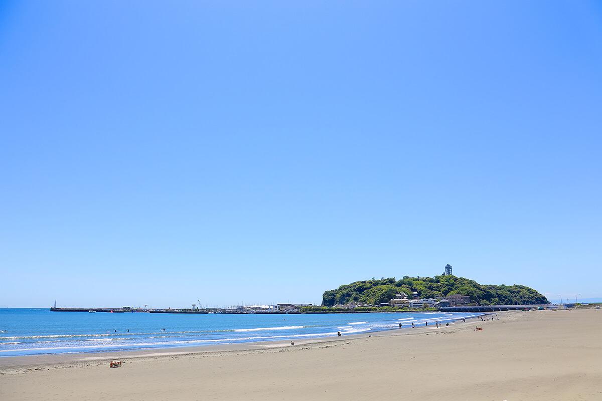 片瀬東浜海水浴場 江ノ島海岸