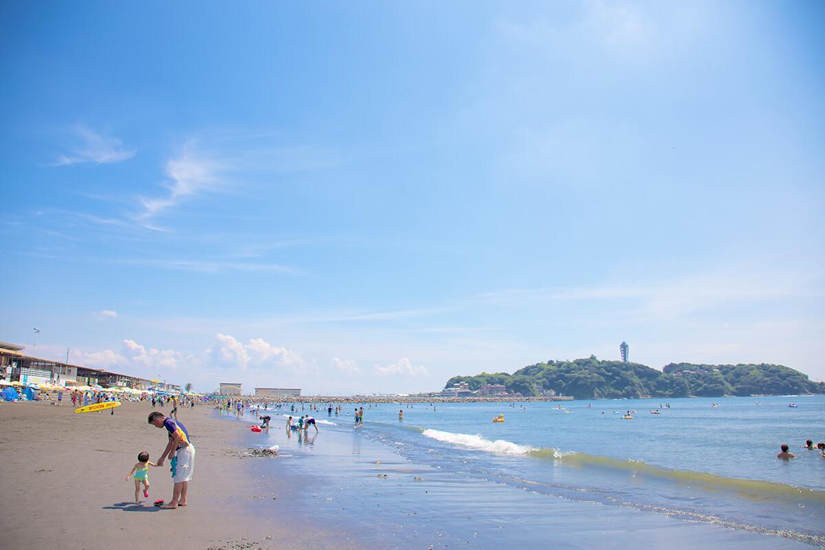 「片瀬西浜海水浴場(神奈川県藤沢市 片瀬海岸3丁目)」の画像検索結果